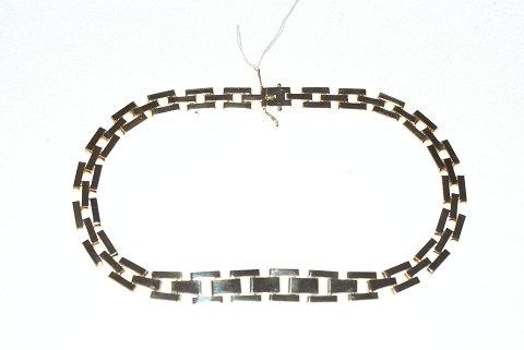 blok halskæde guld